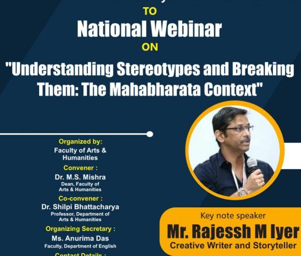 National Webinar on Understanding stereotypesand breaking them