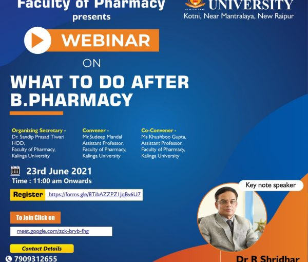 Webinar on what to do after pharmacy
